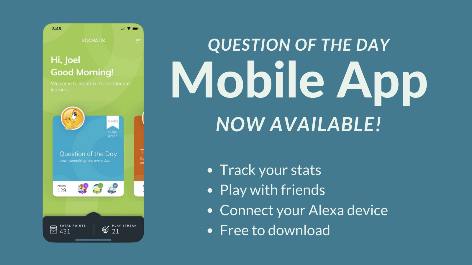 Question of the Day Mobile App