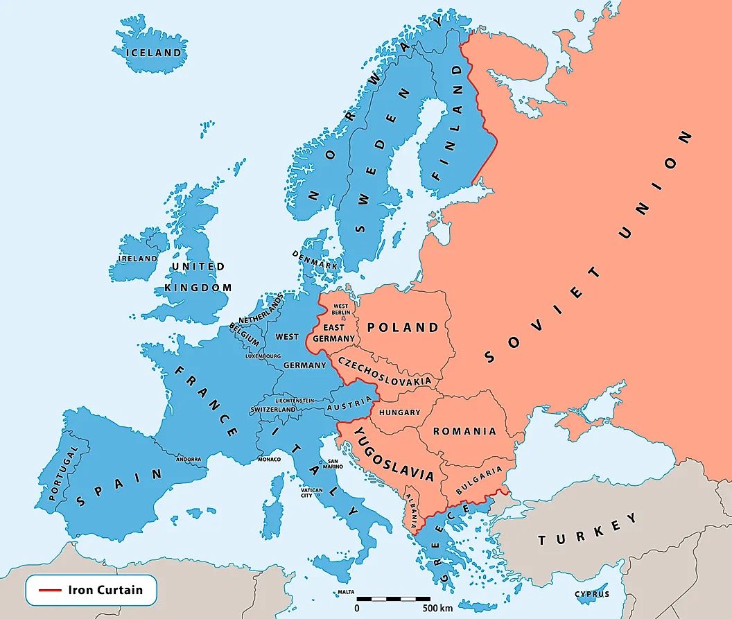 The Iron Curtain - Map
