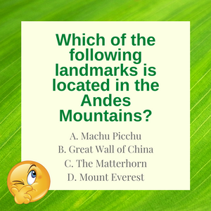 Question of the Day | Machu Picchu