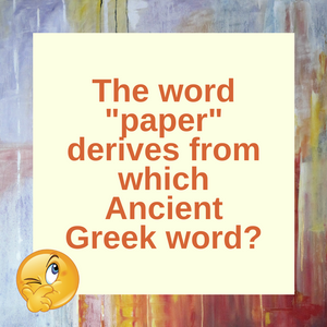 Question of the Day | Paper History