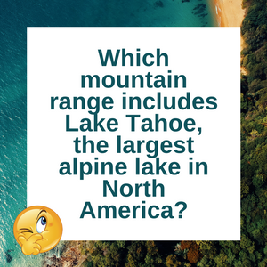 Question of the Day | Keep Tahoe Blue