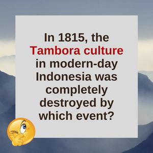 Question of the Day | Mount Tambora
