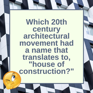 Question of the Day | The Bauhaus Movement