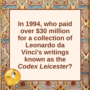 Question of the Day | Codex Leicester