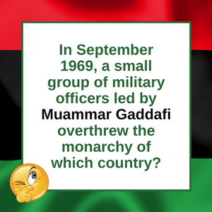 Question of the Day | Muammar Gadaffi