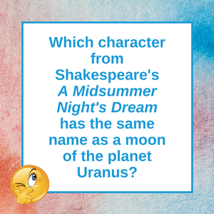 Question of the Day | Shakespeare and Oberon