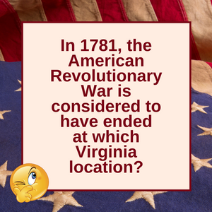 Question of the Day | The American Revolutionary War