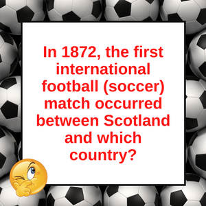 Question of the Day | The First International Football Match