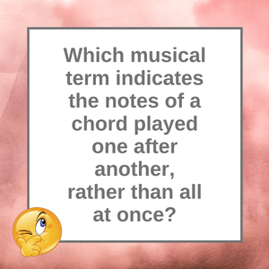 Question of the Day | Chords and Arpeggios