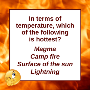 Question of the Day | Hotter Than The Sun