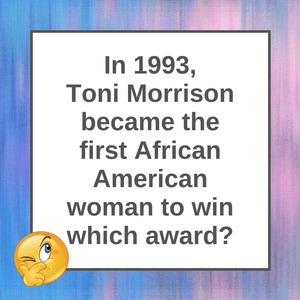 Question of the Day | Toni Morrison